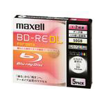 MAXELL データ用BD-RE DL 50GB 2倍速 5枚入 BE50PWPA.5S