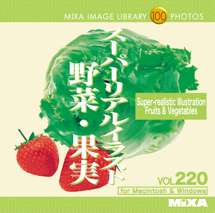 MIXA Vol.220 スーパーリアルイラスト 野菜-果実 SUPER REALISTIC ILLUSTRATION FRUIT & VEGETABLE